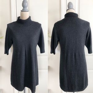 Eileen Fisher • marino wool turtleneck dress M